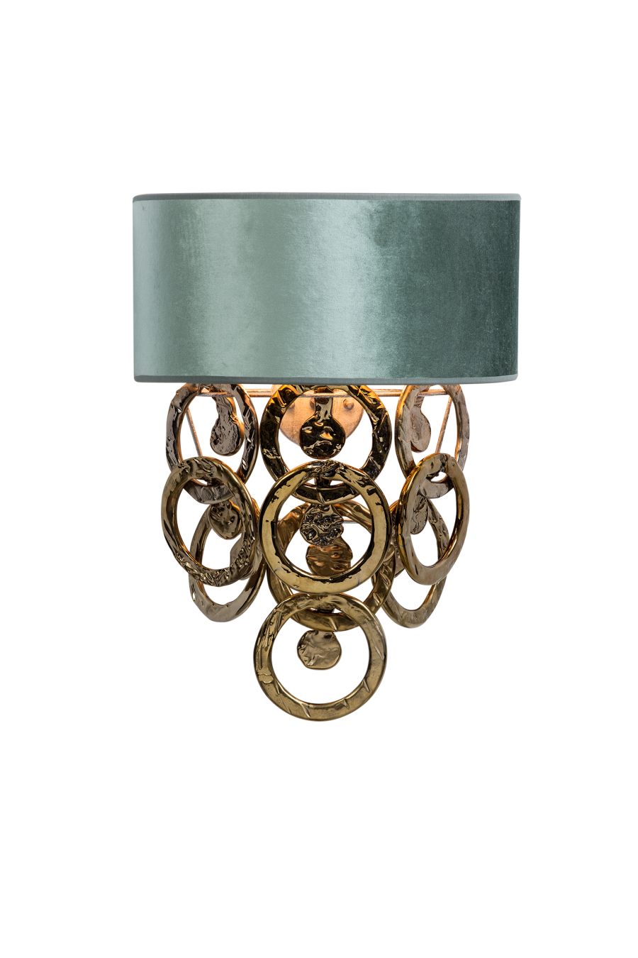 Wall lamp with glass rings