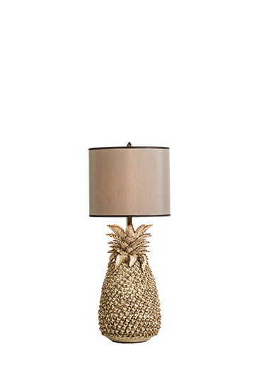 Pine chic table lamp small