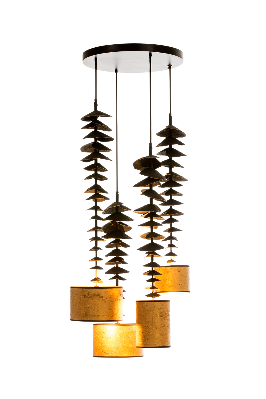 Bracket fungus combination hanging lamp