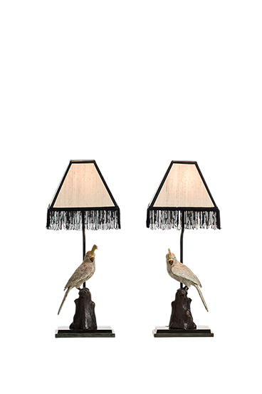Parrot table lamp left
