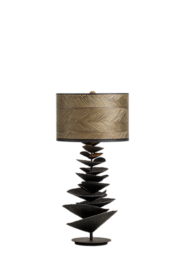 Bracket fungus table lamp